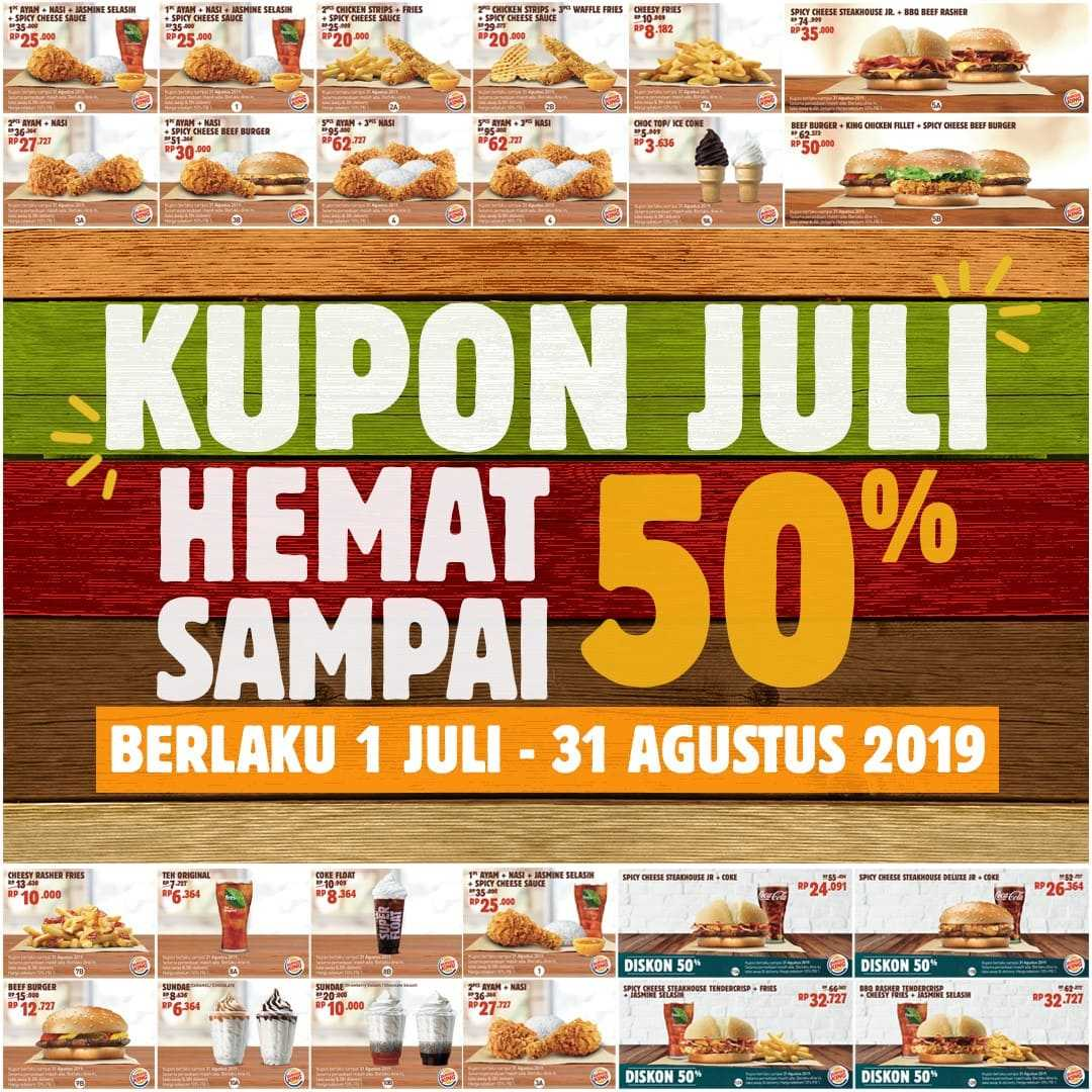 Diskon BURGER KING Promo KUPON HEMAT SPESIAL JULI 2019, DISKON HINGGA 50%