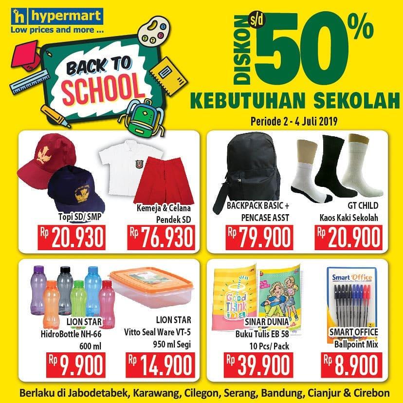 HYPERMART Promo BACK TO SCHOOL, Diskon hingga 50% untuk produk Kebutuhan Sekolah
