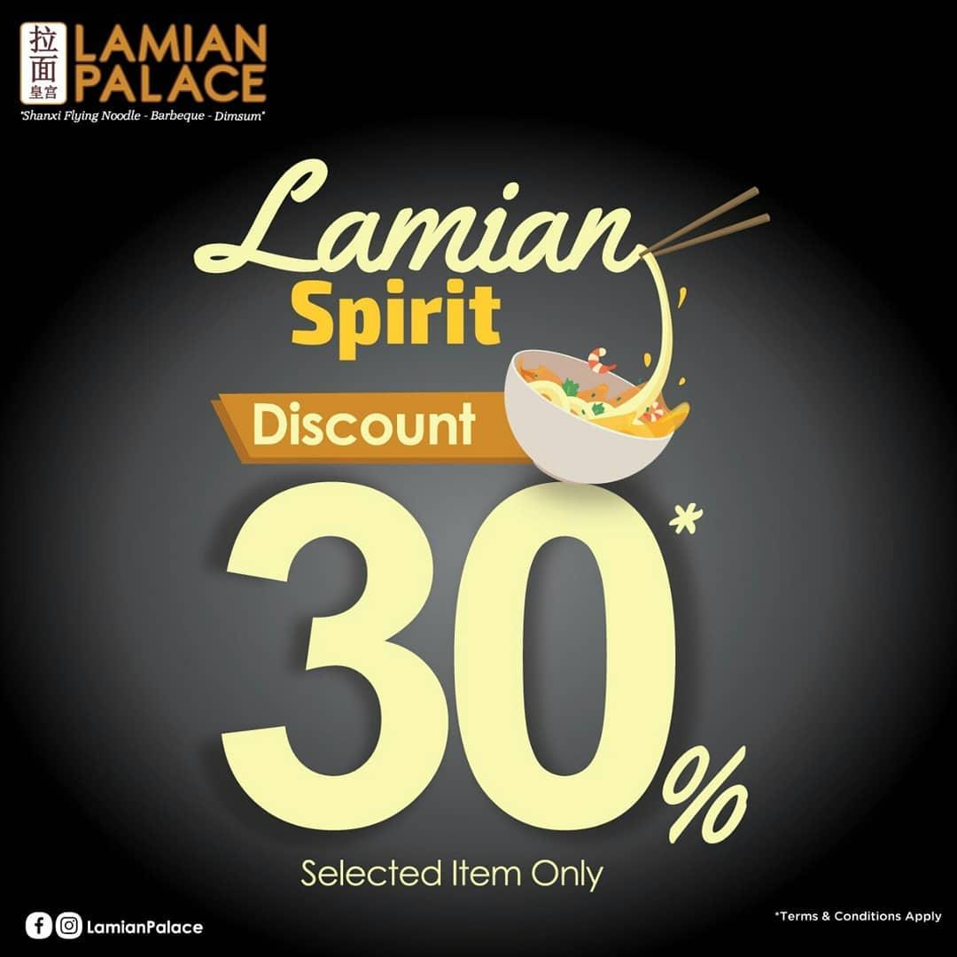 Lamian Palace Promo Diskon 30% untuk Menu Mie Favorit
