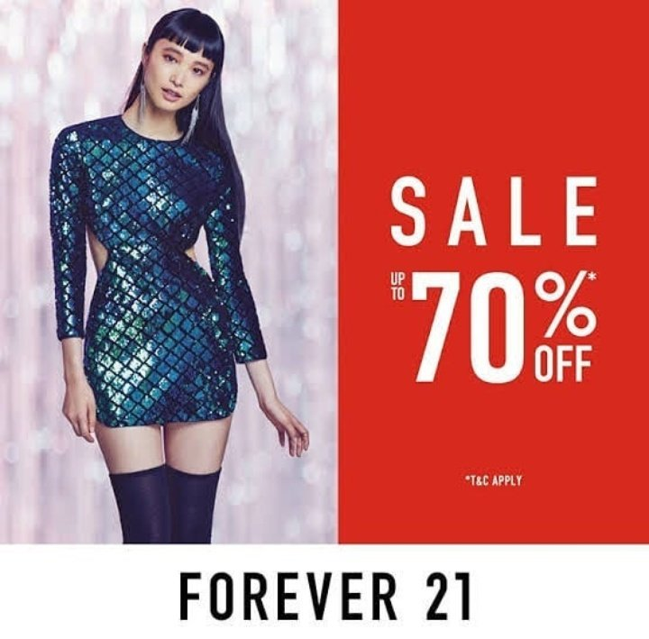 Promo Forever 21 End Of Season Sale, Diskon 70%