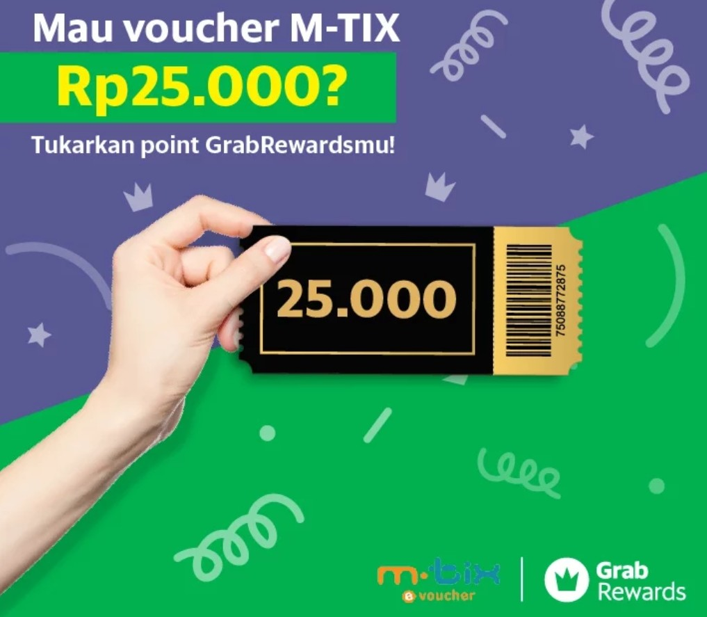 Diskon Cinema XXI Promo Spesial FREE Voucher Mtix Dengan Redeem Grab Rewardpoints!