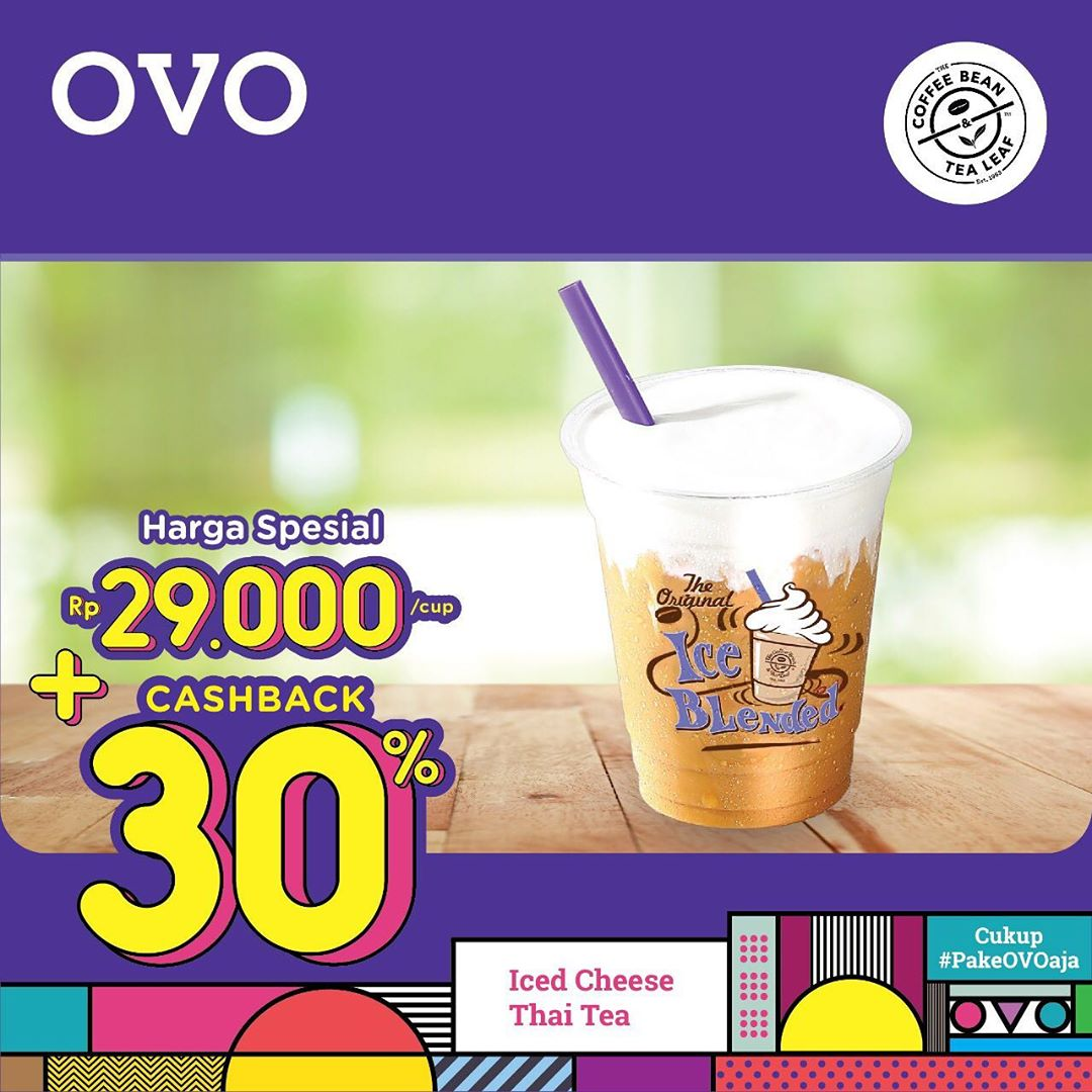 COFFEE BEAN Promo HARGA SPESIAL Minuman Pilihan HANYA Rp.29.000 + CASHBACK 30% dengan OVO