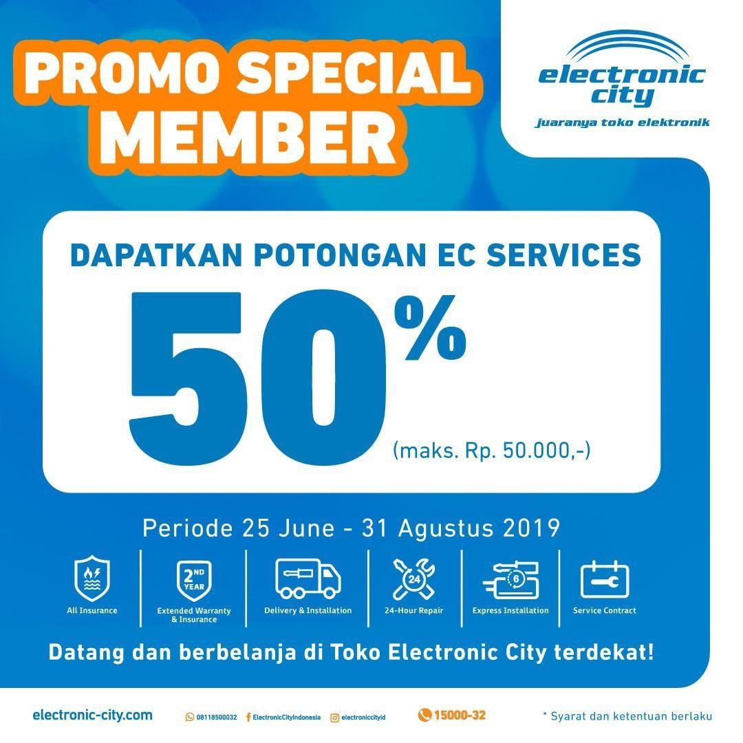 ELECTRONIC CITY Special Promo for Member Potongan 50% untuk EC Services