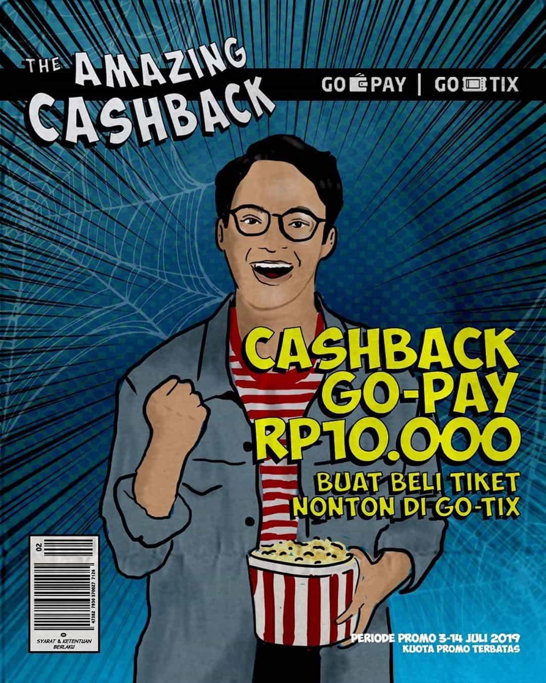 GO-TIX The Amazing Cashback Dapatkan Cashback Rp.10.000 untuk pemesanan Tiket Nonton
