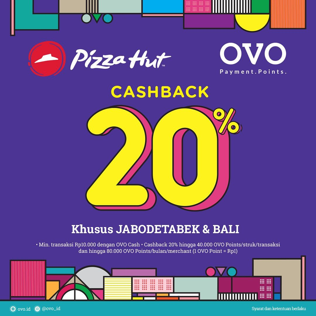 PIZZA HUT Promo Cashback 20% dengan OVO