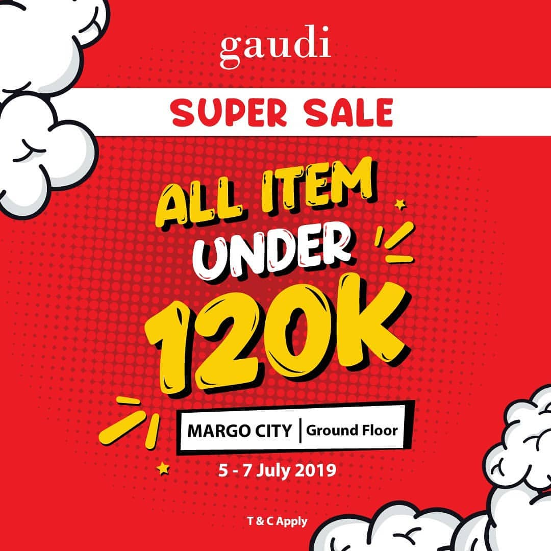 Diskon GAUDI Promo SUPER SALE All Item Under 120 K