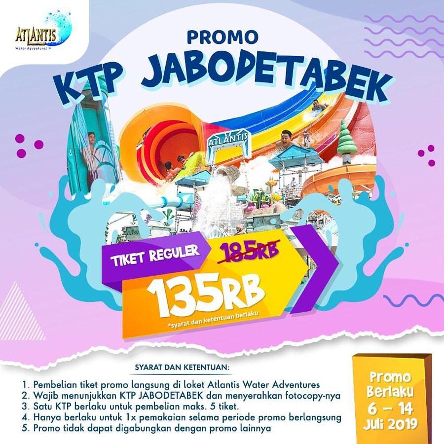 ATLANTIS Promo Harga Spesial Tiket Masuk, Khusus Pemegang KTP JABODETABEK