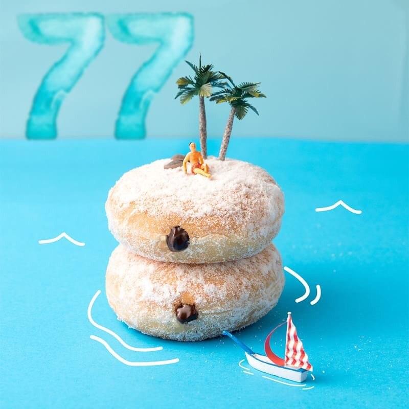 Diskon DUNKIN DONUTS Promo Paket 12 Donut dan 2 Minuman Dingin hanya Rp.77.000 dengan KUPON LINE