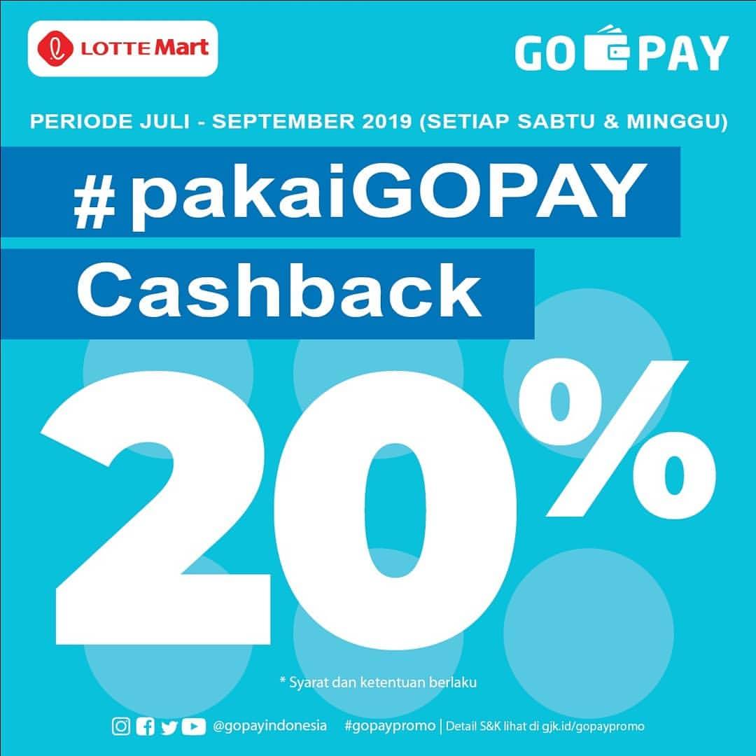 LOTTEMART Promo CASHBACK 20% dengan GO-PAY