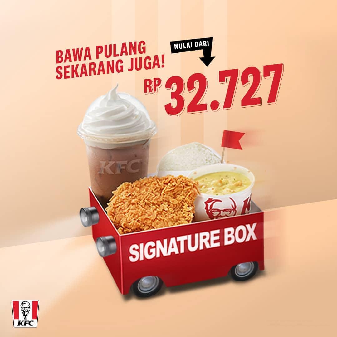 KFC New Signature Box, harga mulai Rp.32.727