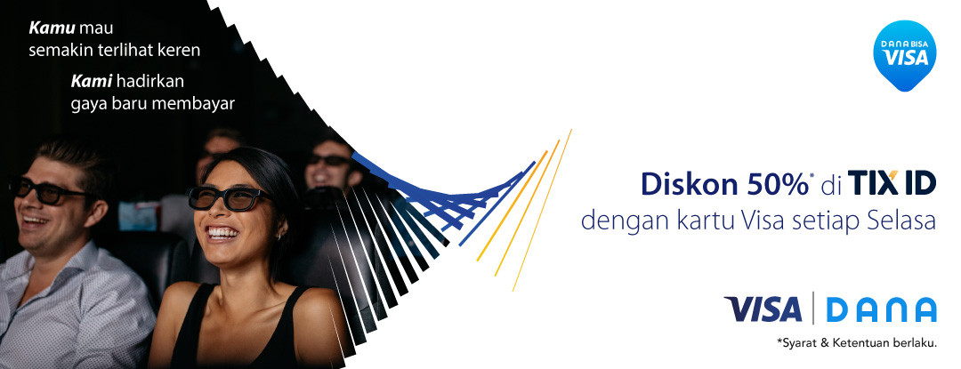 Diskon TIX ID Promo Diskon 50% Pakai Kartu VISA Setiap Hari Selasa