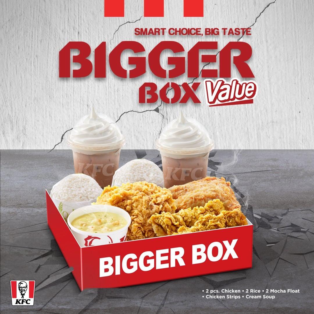 KFC Bigger Box Value Paket Lengkap mulai Rp.63.636