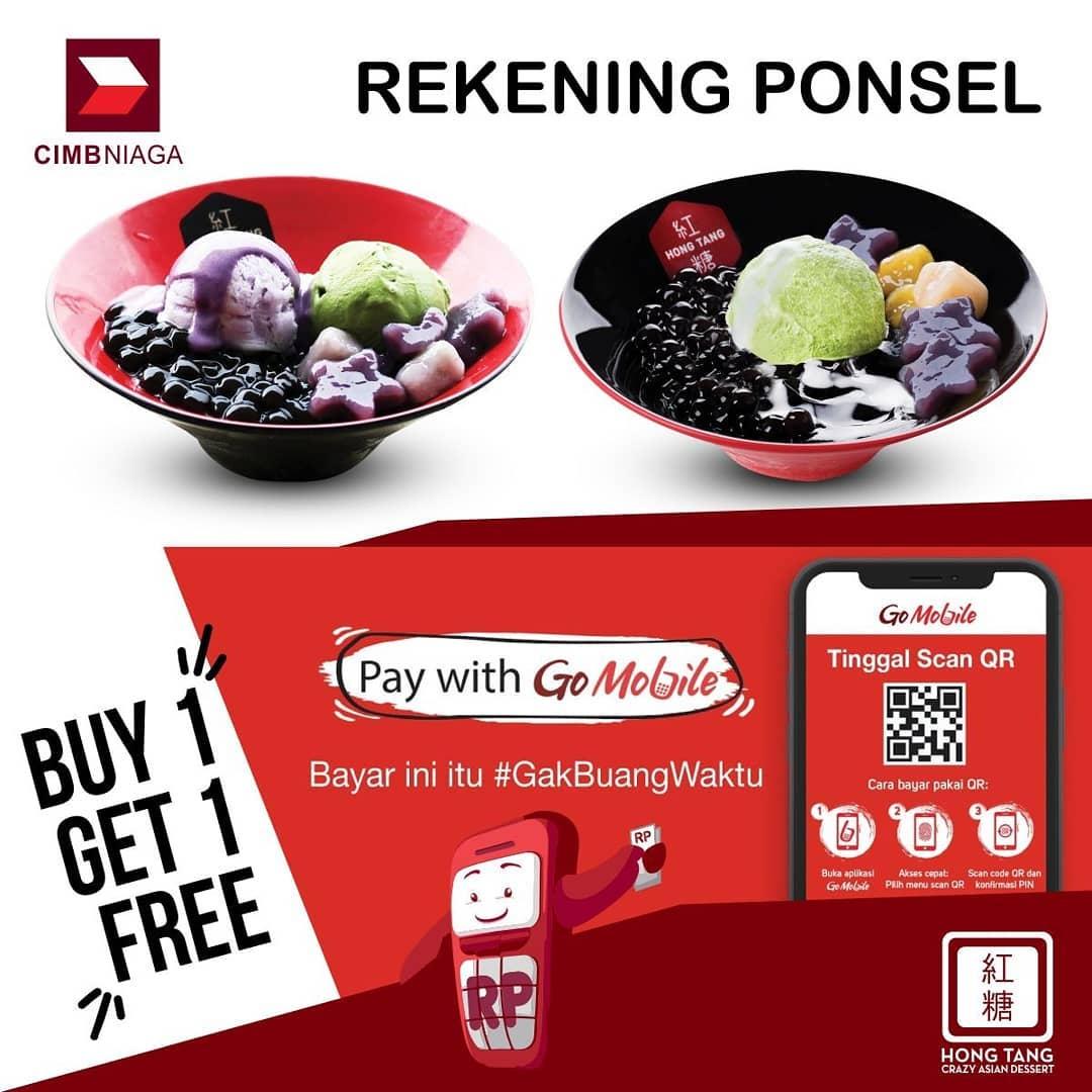 HONG TANG Promo BELI 1 GRATIS 1 dengan REKENING PONSEL CIMB NIAGA