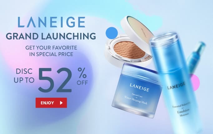 JD.ID Promo LANEIGE Grand Launching Disc up to 52% Off