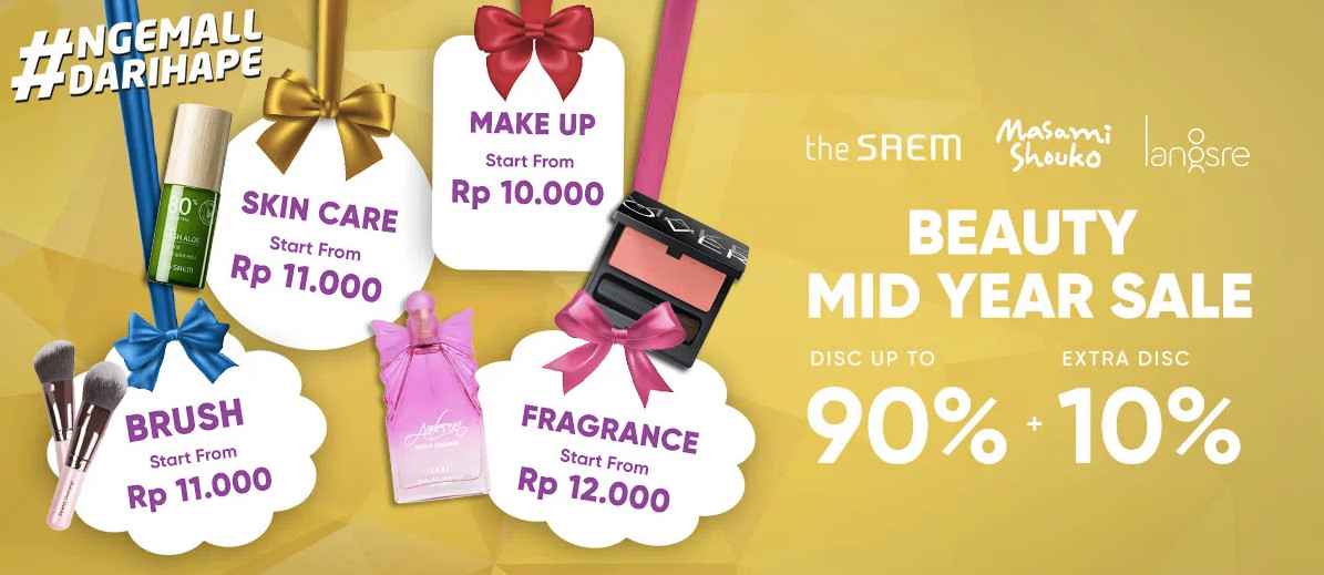 iLOTTE.COM Promo BEAUTY MID YEAR SALE Disc up to 90% + Extra Disc 10%!