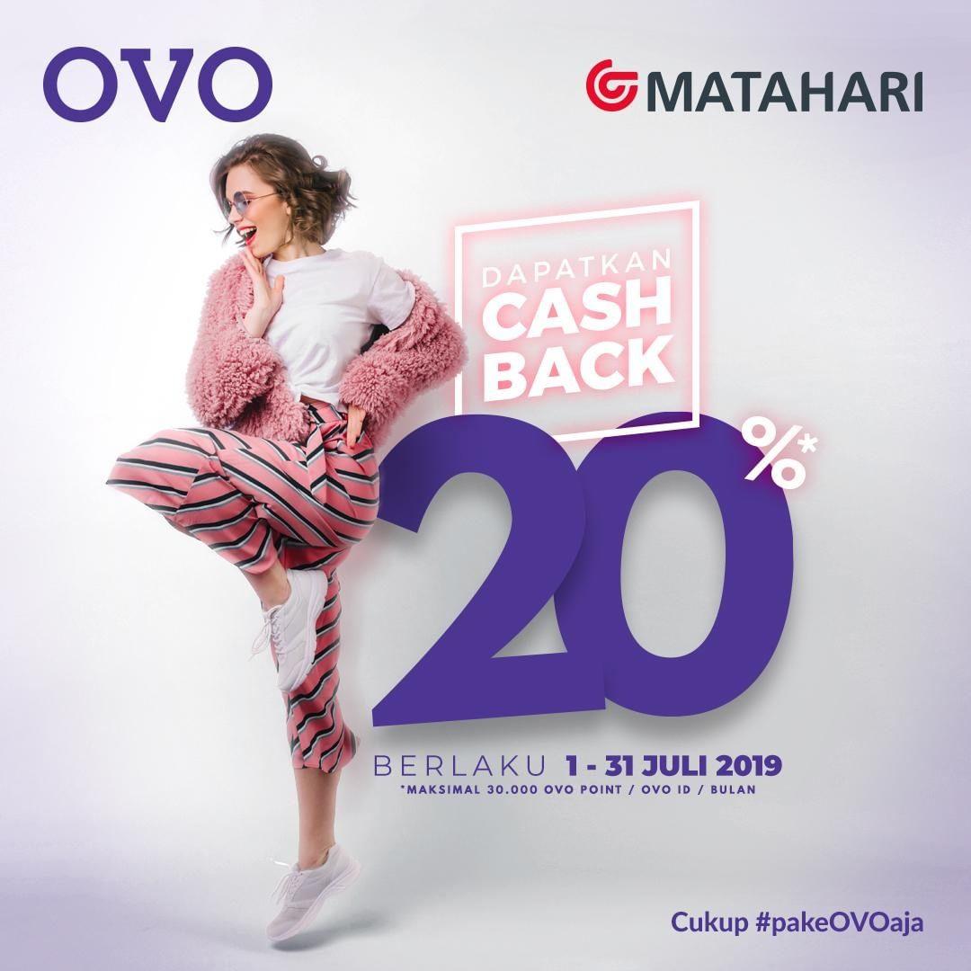 Matahari Department Store Promo Cashback 20% dengan OVO
