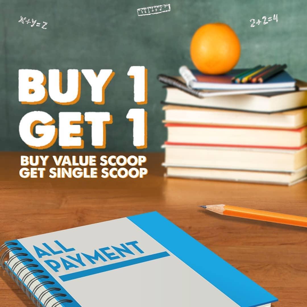 Diskon BASKIN ROBBINS Promo Buy 1 Value Scoop Get 1 Single Scoop