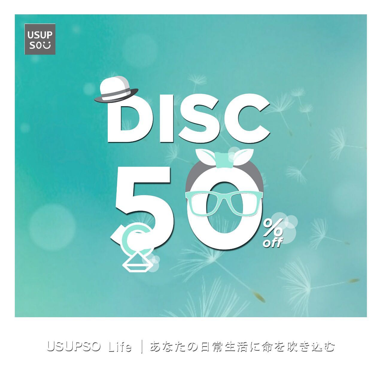 USUPSO Promo Diskon 50% Off & Bag Discount 20% Off