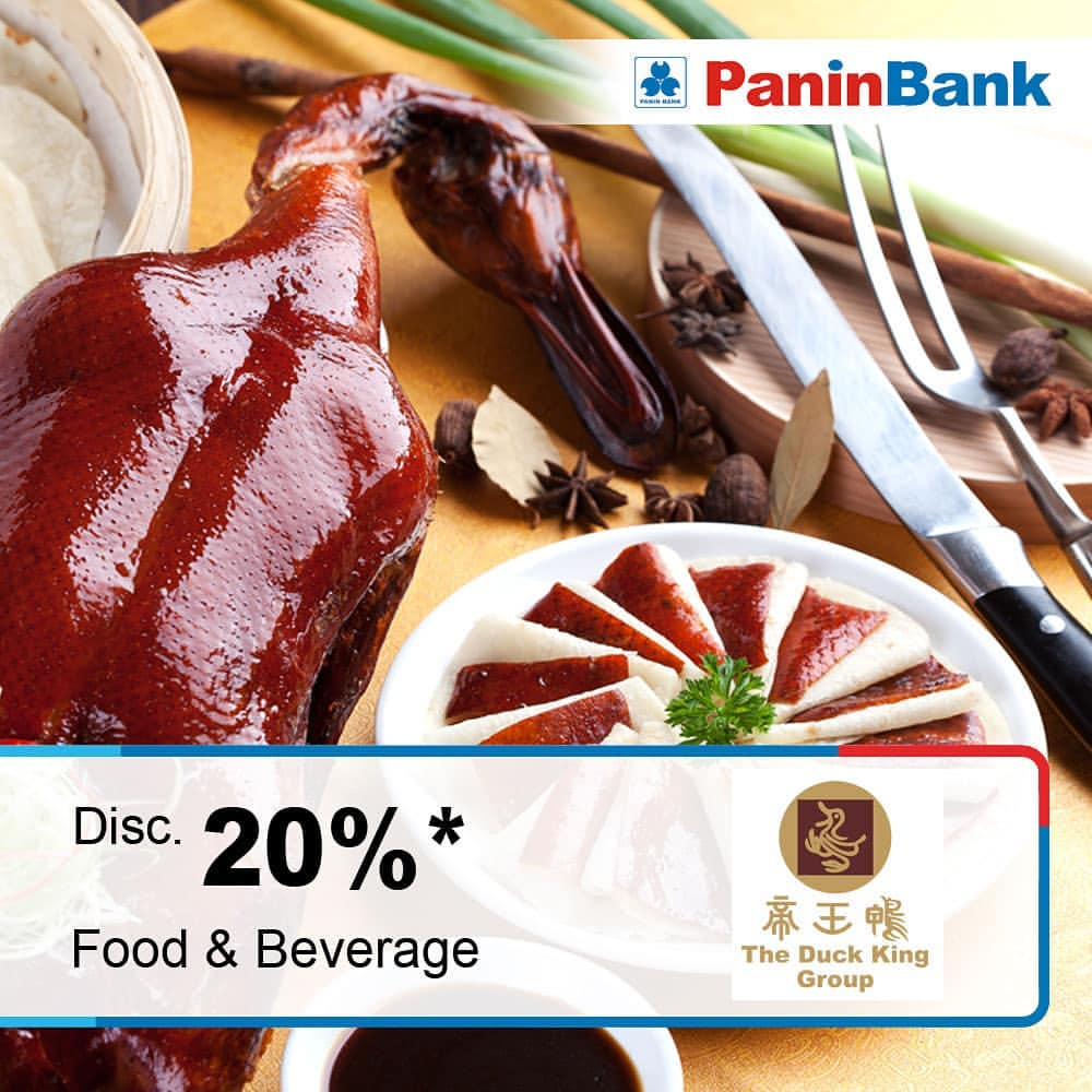 THE DUCK KING Promo DISKON 20% dengan KARTU KREDIT PANIN BANK