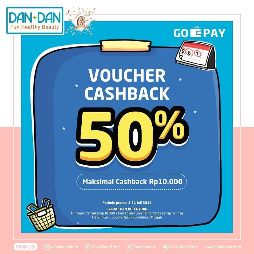 DAN+DAN Promo Belanja dan Dapatkan Voucher Cashback 50% dengan GO-PAY