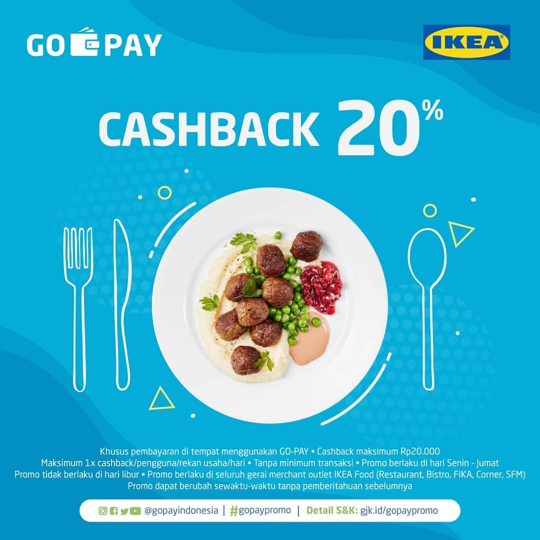 IKEA area Food atau IKEA Resto CASHBACK 20% dengan GOPAY
