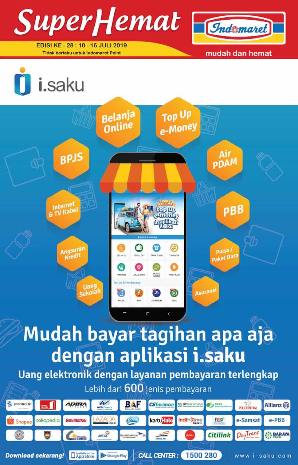 Diskon Promo INDOMARET Katalog Super Hemat periode 10-16 Juli 2019