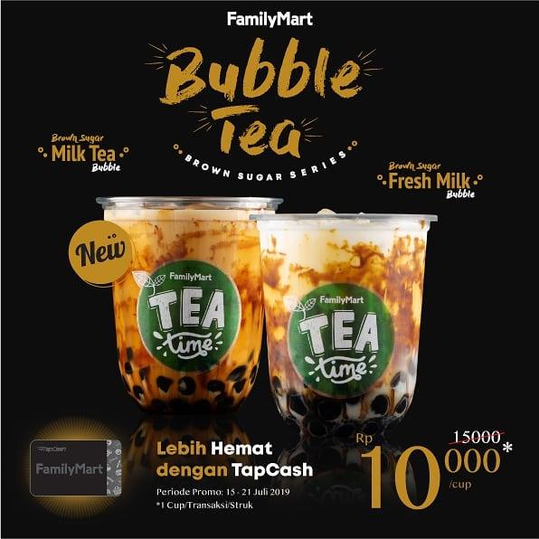 Diskon BARU! FamilyMart BUBBLE TEA HARGA SPESIAL Rp.10.000 dengan kartu FamilyMart TapCash