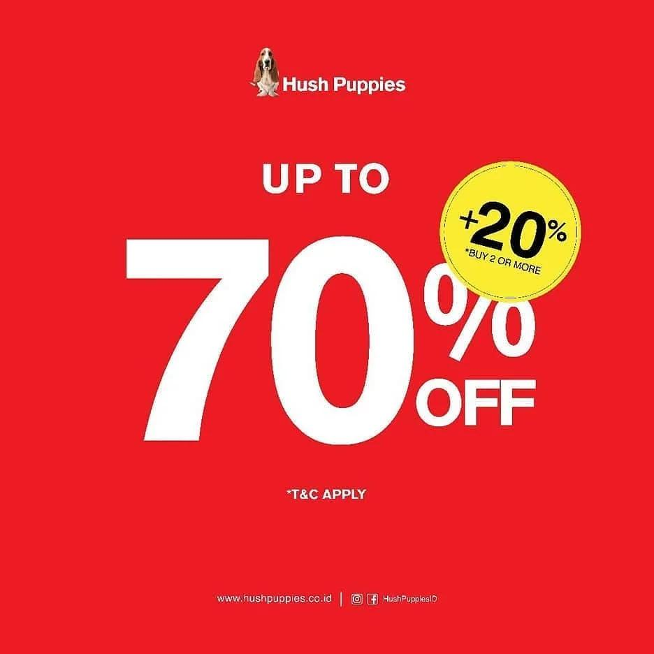 HUSH PUPPIES Promo Disc Up To 70% Off + 20%