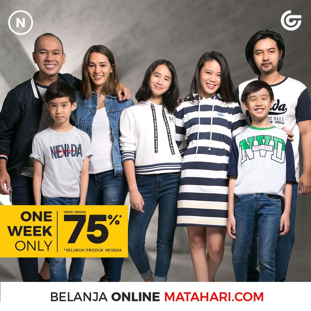 Diskon MATAHARI DEPARTMENT STORE Promo NEVADA ONE WEEK SPECIAL OFFERS HEMAT hingga 75%