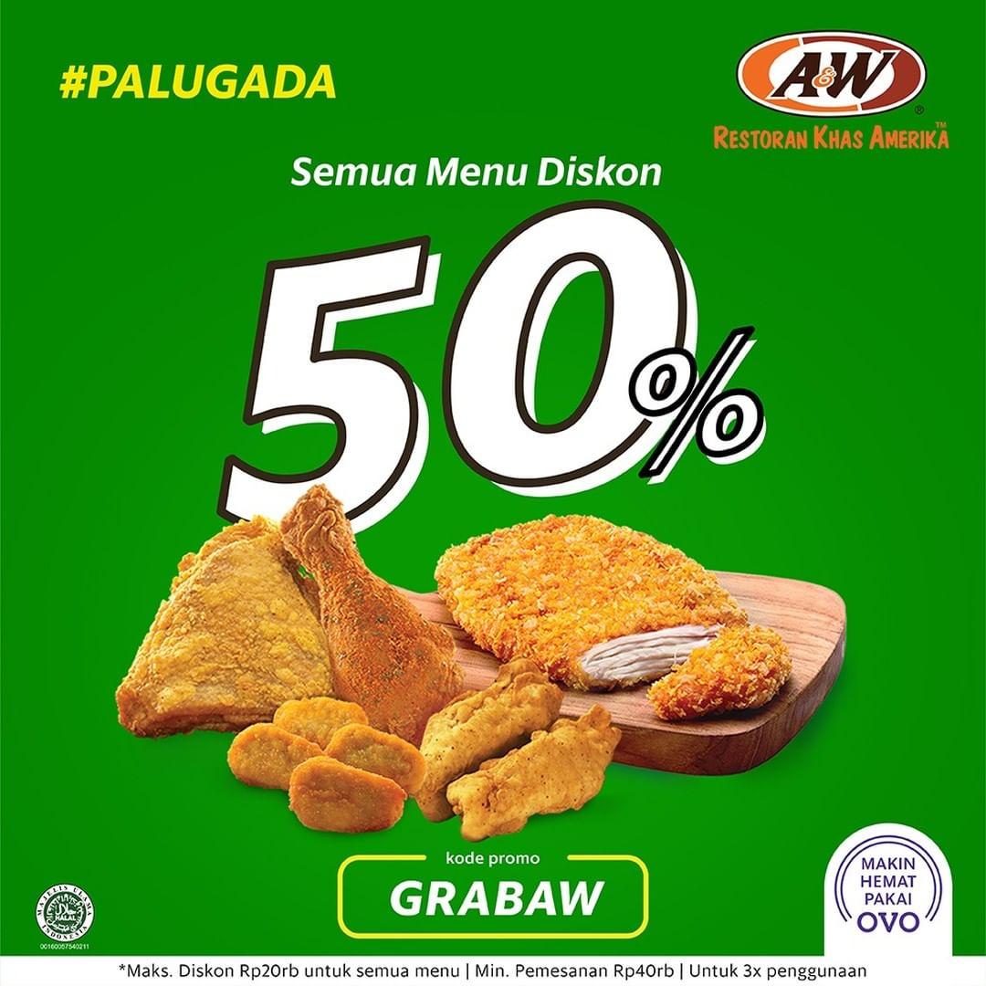 A&W Restaurant Promo Spesial Palugada, Diskon 50% Off