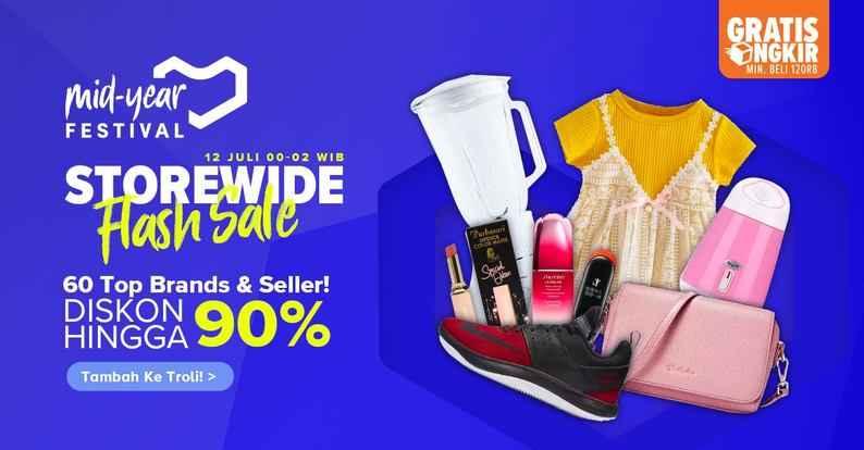 Lazada Promo Storewide Flash Sale, Diskon Hingga 90%