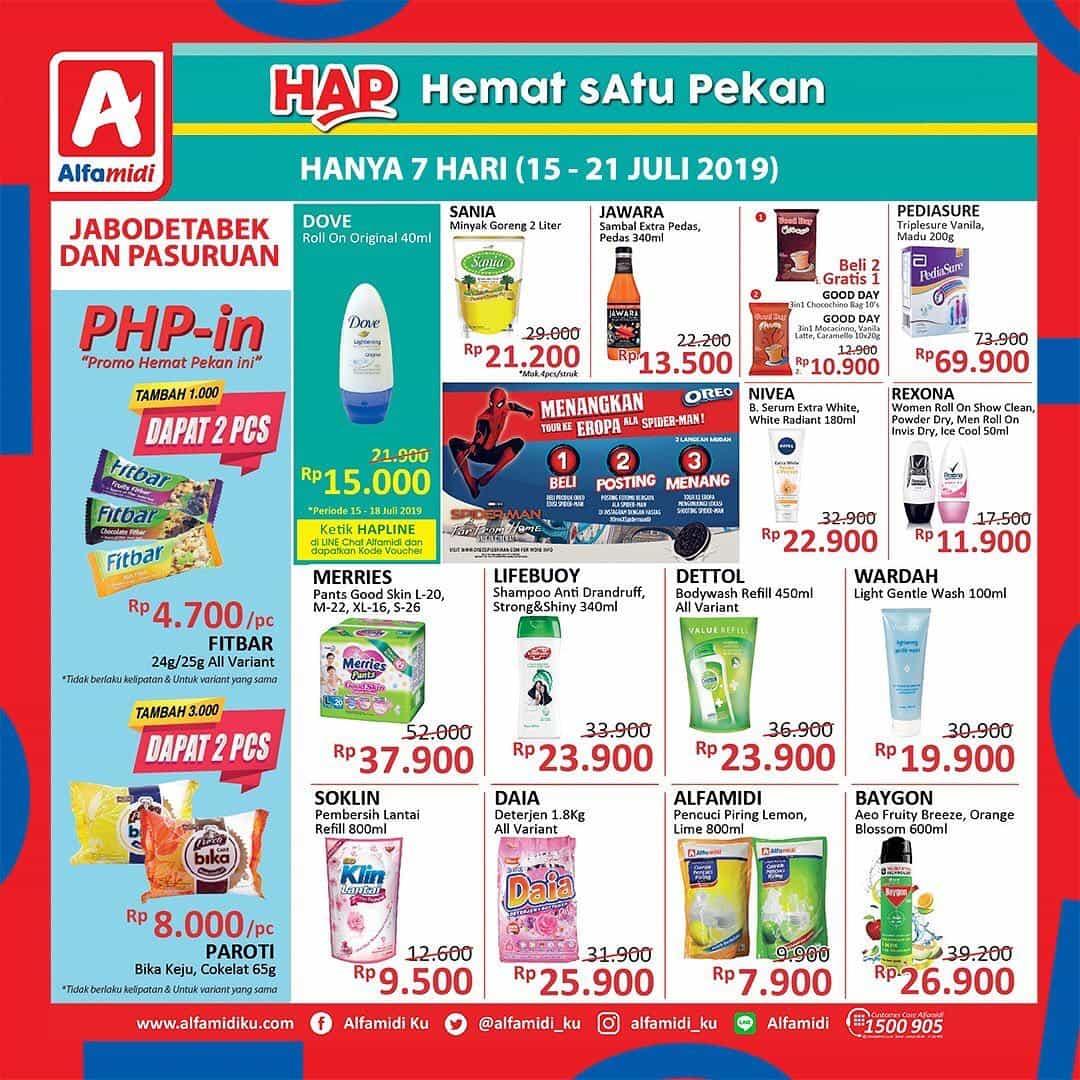 Diskon Katalog ALFAMIDI Hemat Satu Pekan periode 15-21 Juli 2019