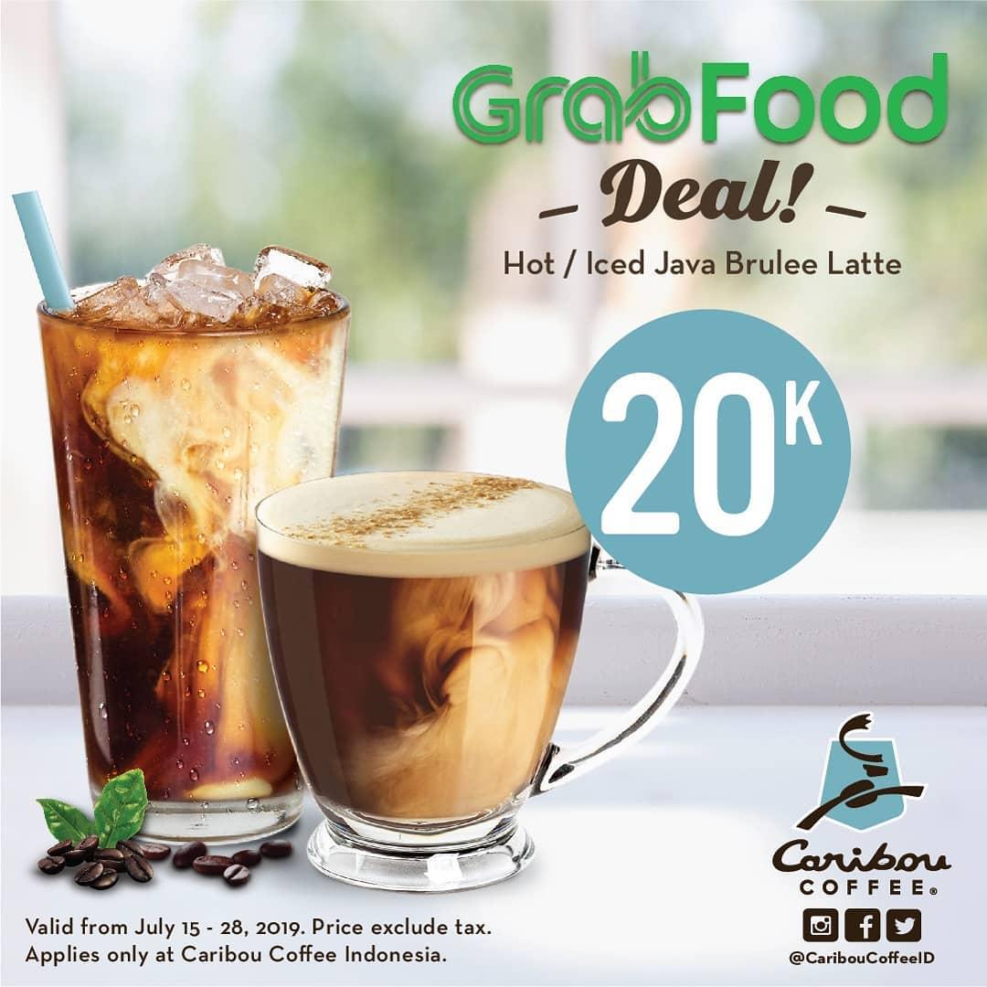 Caribou Coffee GrabFood Deals Harga Spesial Menu Pilihan mulai Rp.20.000 khusus via GRABFOOD