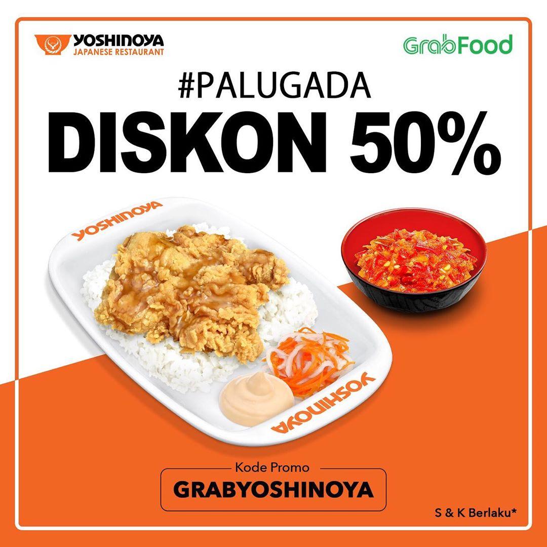 YOSHINOYA Promo DISKON 50% khusus pembelian di GrabFood