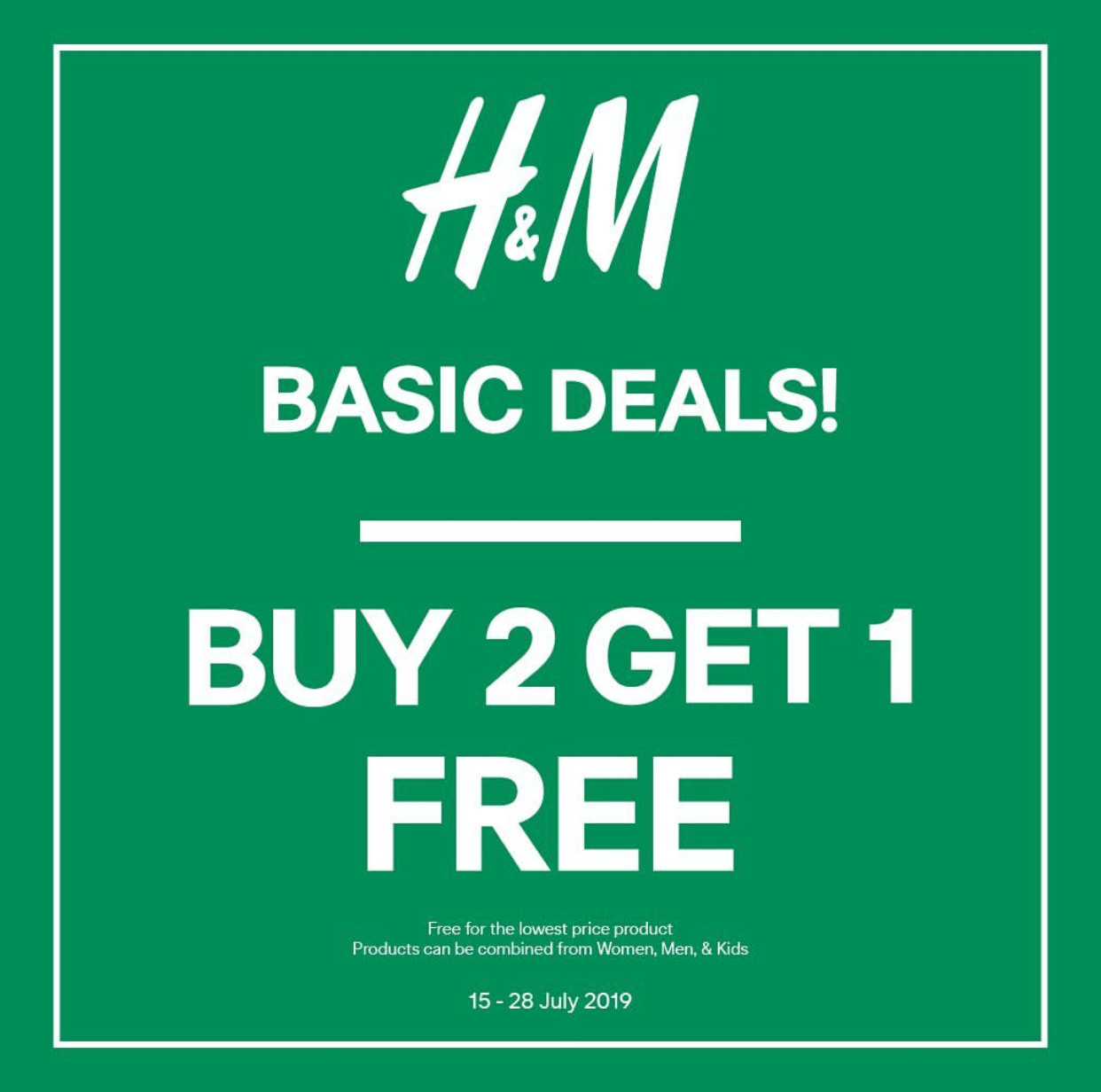 Diskon H&M Basic Deals BELI 2 GRATIS 1