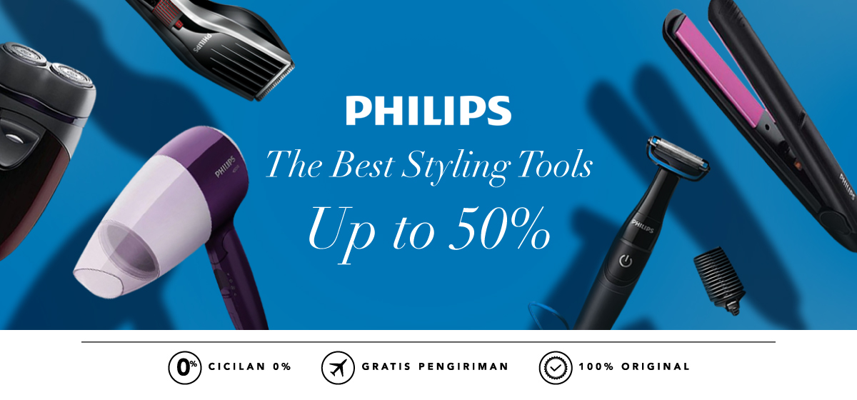 BLIBLI.COM Promo PHILIPS The Best Styling Tools Disc. up to 50