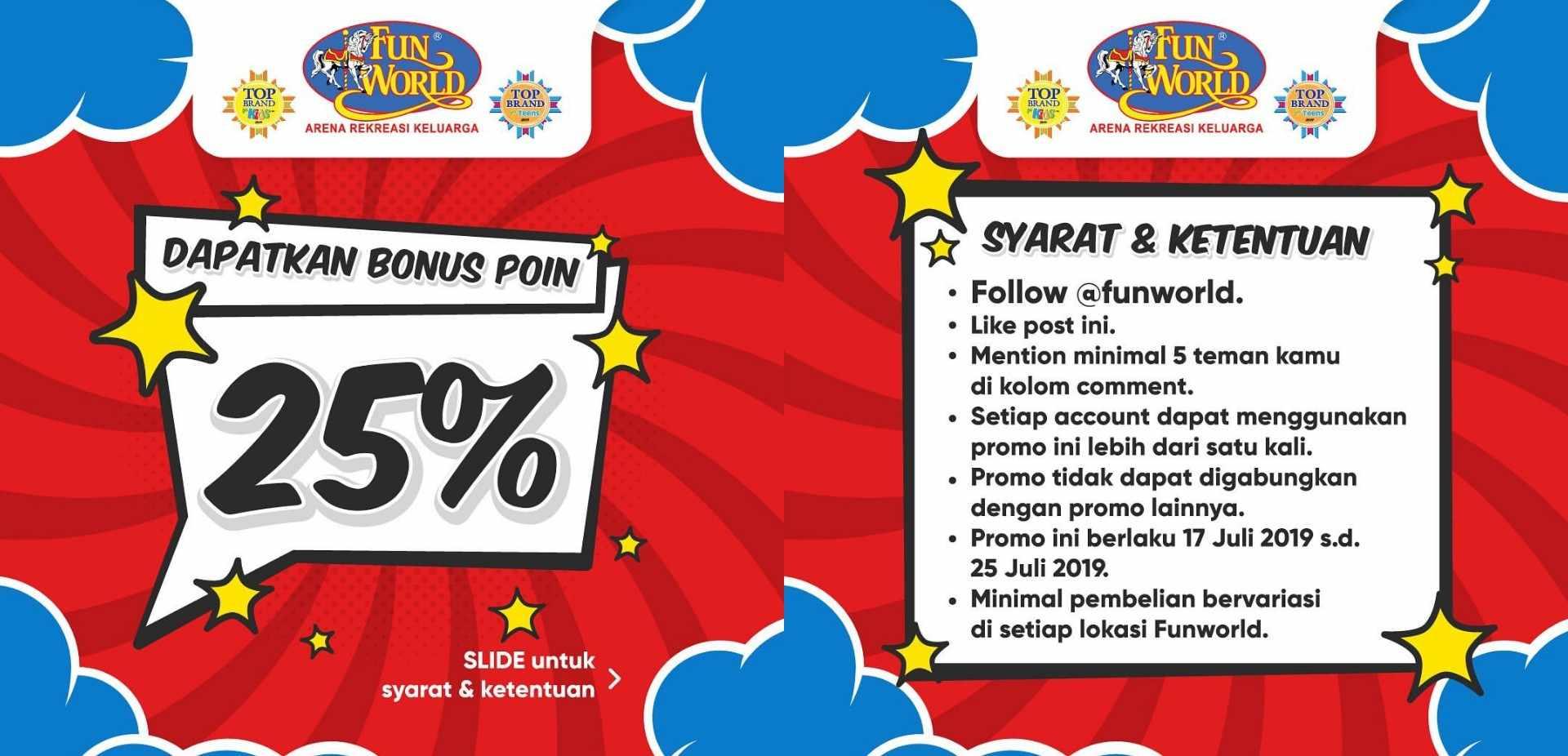 Fun World Bonus Poin hingga 25%