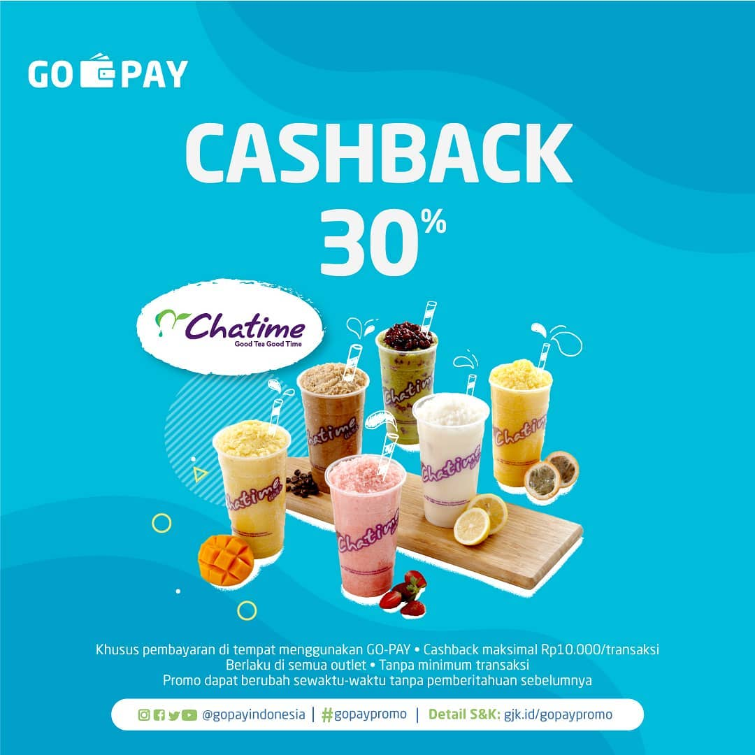 Chatime Cashback 30% dengan GO-PAY
