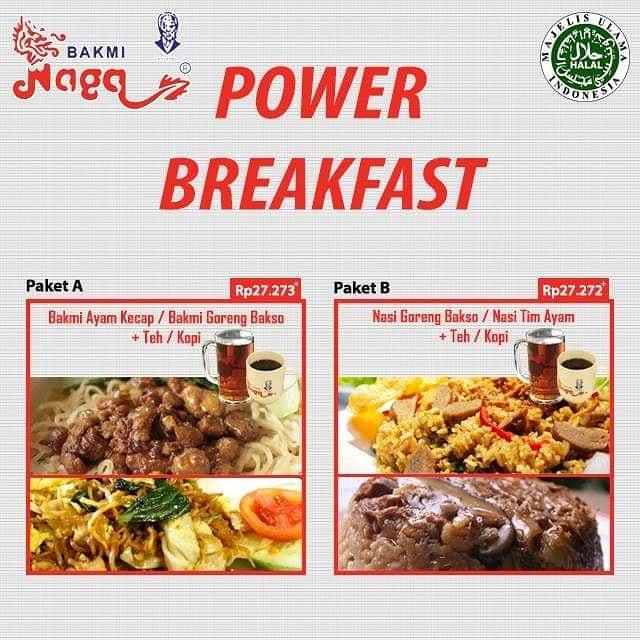 Diskon Bakmi Naga Promo Power Breakfast only Rp.27.273