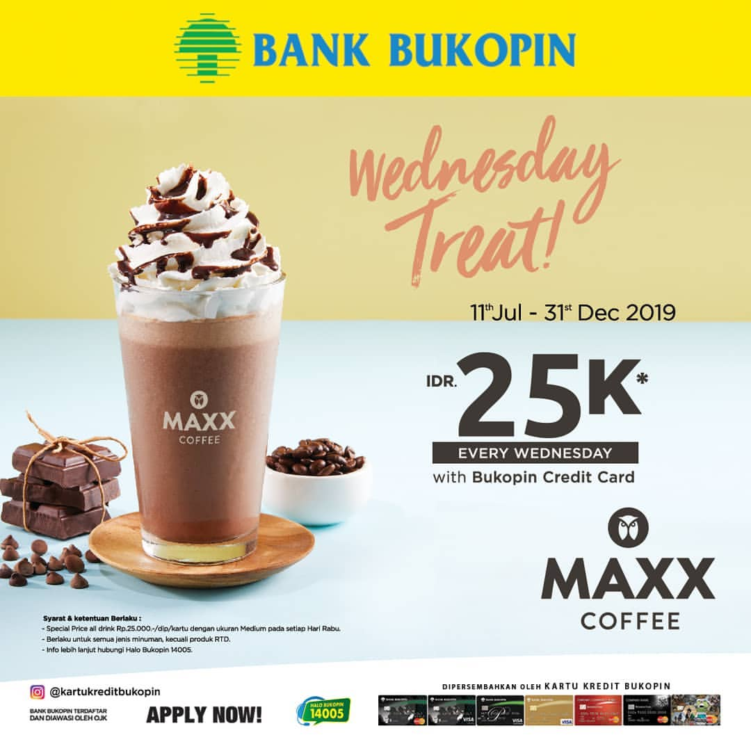 Maxx Coffee promo All Drink Rp.25.000