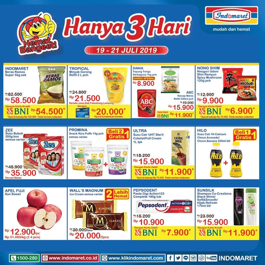 Katalog Indomaret Weekend periode 19-21 Juli 2019