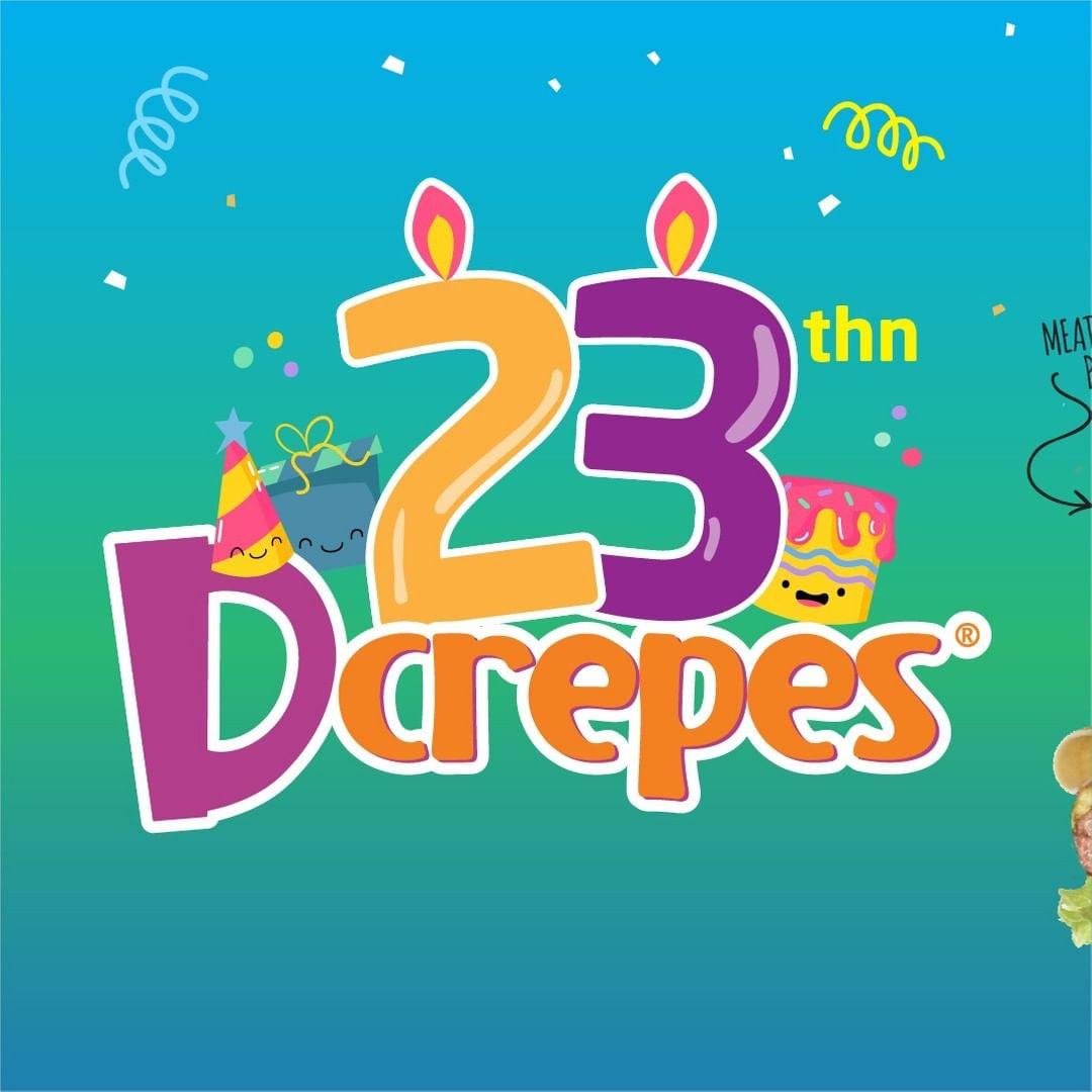 D'CREPES Promo ULANG TAHUN ke 23