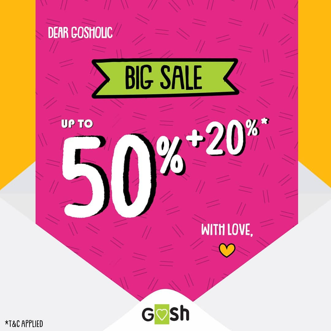 Goshshoes Promo Big Sale up to 50% + 20% off