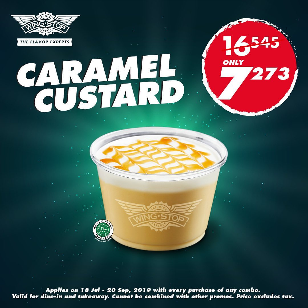 Diskon Wingstop New Caramel Custard Only Rp.7.273