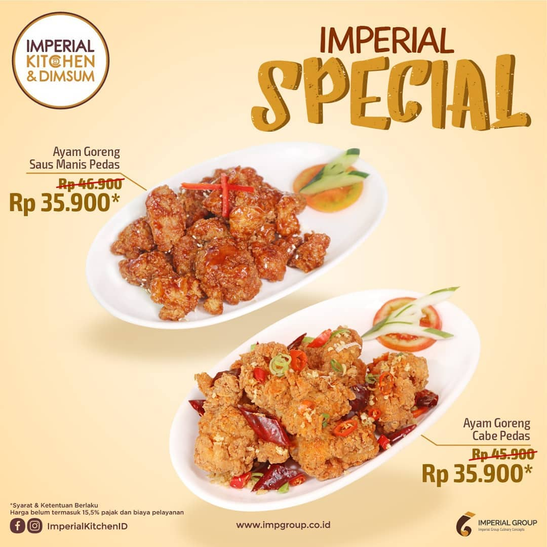 IMPERIAL KITCHEN and DIMSUM Promo HARGA SPESIAL