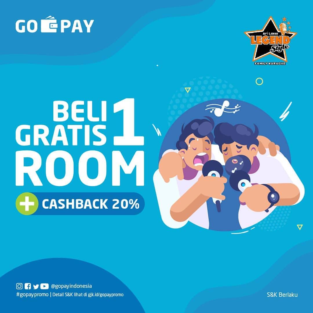 Ari Lasso Legend Karaoke GRATIS 1 Room selama satu jam plus CASHBACK 20% dengan GO-PAY