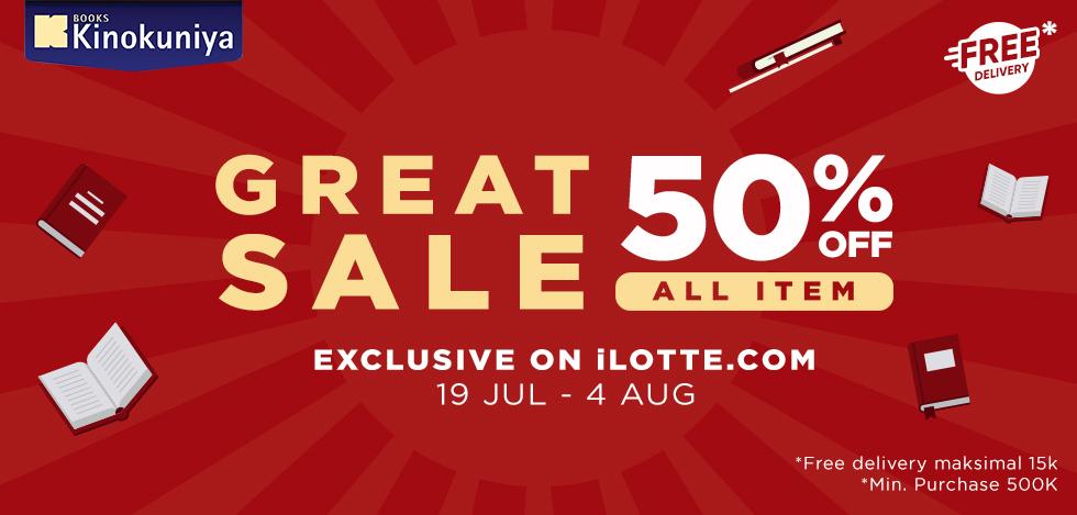 iLOTTE.COM Promo Kinokuya Diskon 50% Off + Free Delivery