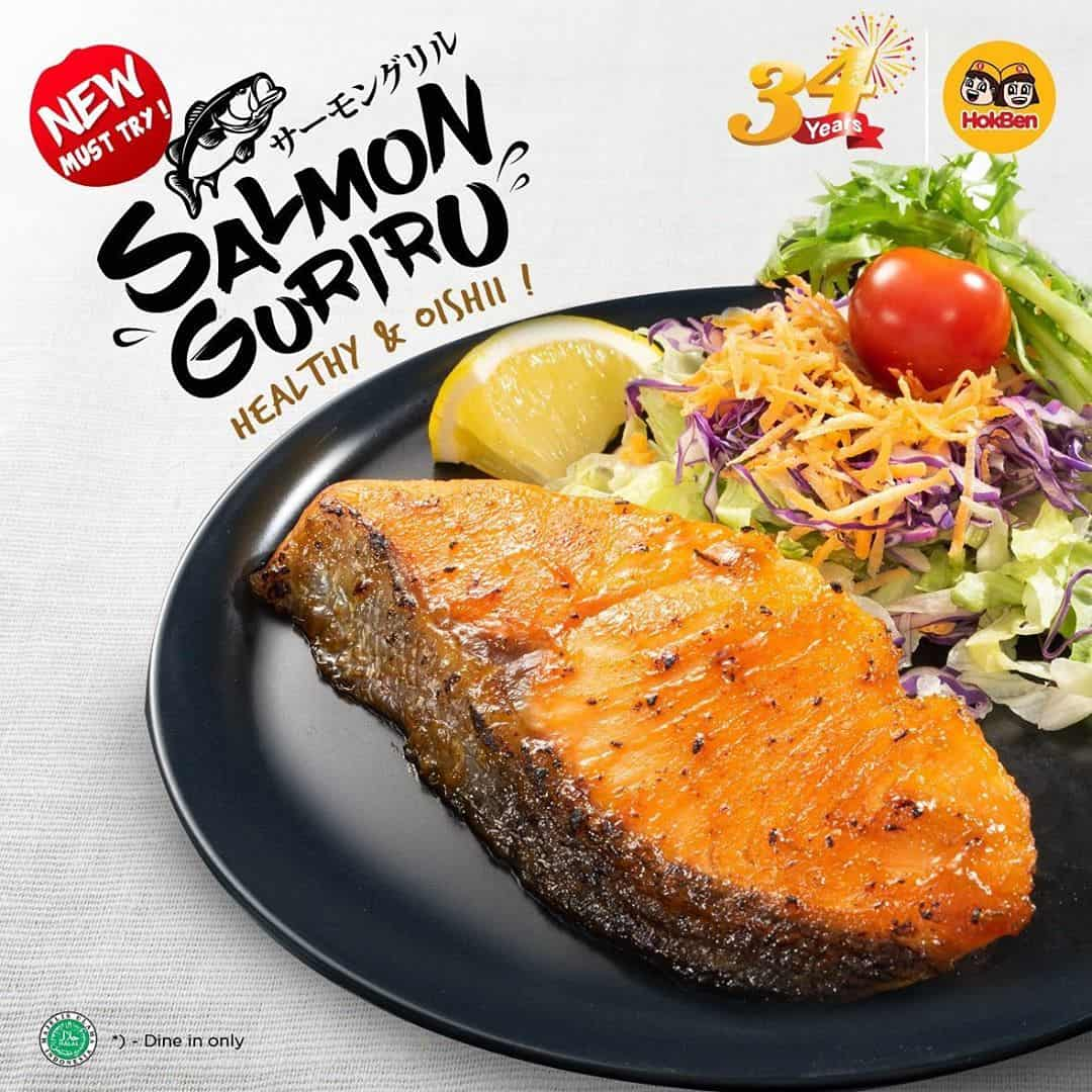 HOKBEN Promo New Menu Salmon Guriru