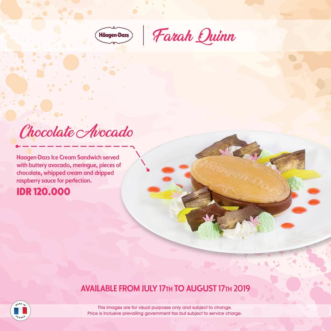 "Diskon Haagen-Dazs Present ""Chocolate Avocado"" IDR 120.000 by chef Farah Quinn"
