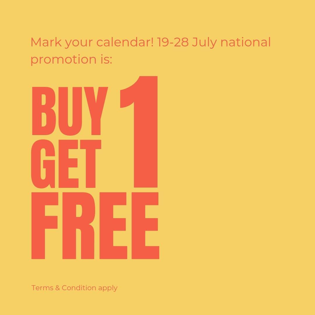 Diskon BRIDGES EYEWEAR Promo Buy 1 Get 1 Free